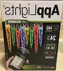 AppLights LED Light Show App Lights 24  Count Icicle Multico