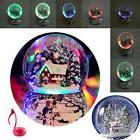 LED Light Snow &tree house Musical Water Snow Globe Music Bo