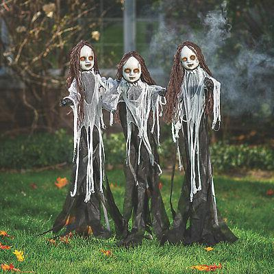 light up halloween spooky doll yard stakes