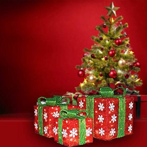 Namotu - of Christmas Green Box Decorations Small/Medium/Large