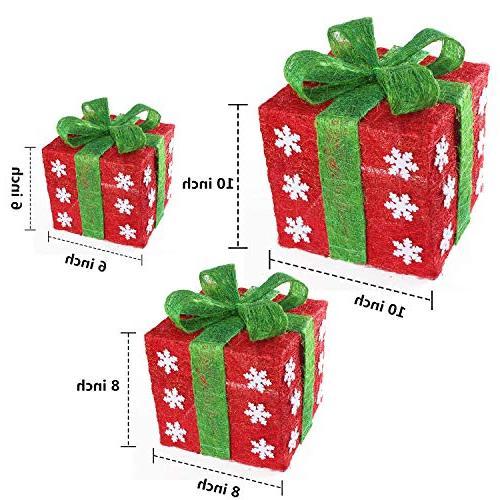 Namotu BoxSet Decor - Christmas Green Gift Box Decorations
