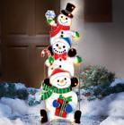 Lighted Christmas Yard Decoration Snowmen Garden Outdoor Sta