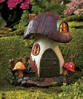 Solar Lighted Fairy Gnome Home Garden House Toadstool Yard G