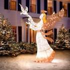 SALE Outdoor Lighted 6' Glorious Christmas Angel w/Dove Scul