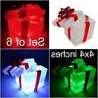 LED Lighted pre-lit Christmas decor.Presents Gift Boxes Spar