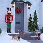 5' Lighted Nutcracker Christmas Decor Yard Sculpture  - FREE