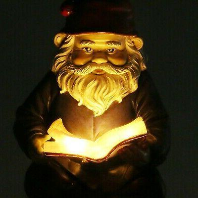 Lighted Solar Light Garden Statue Lawn Ornament Yard Decor