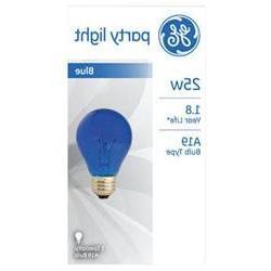 Ge Lighting 25 Watt Blue Crystal Color Party Light Bulb 4972