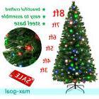 3-8 ft Pre-lit LED Artificial Christmas Tree Fiber OpticHoli