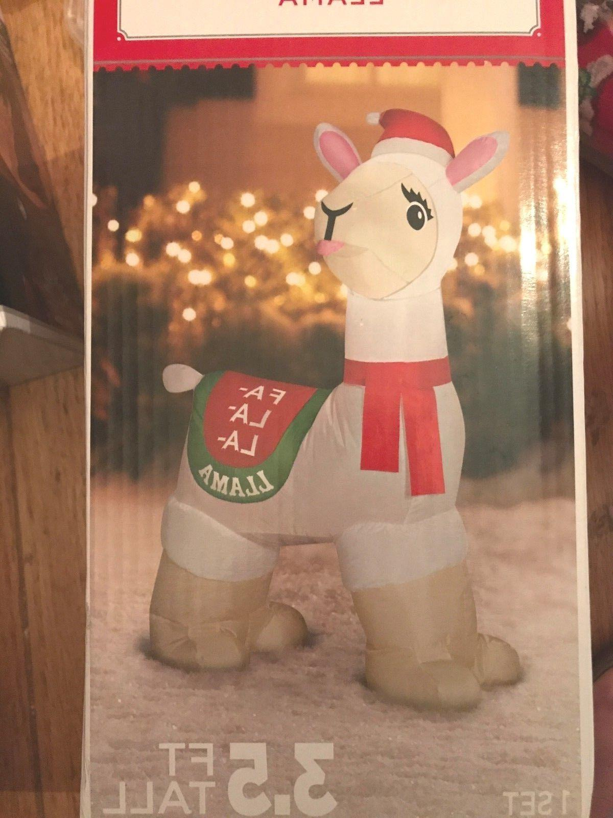 Llama Christmas Yard Tall