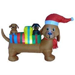 4 Foot Long Christmas Inflatable Dog