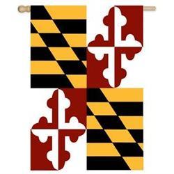 Maryland State Applique Garden Flag