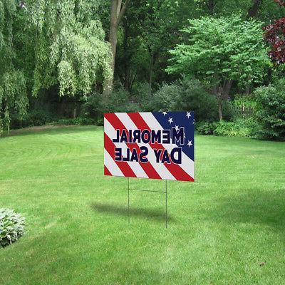 Memorial Sale Outdoor Lawn Yard Sign