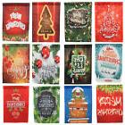 Merry Christmas Garden Flags House Decor Polyester Mini Yard