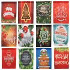 Merry Christmas Garden Flags House Decor Polyester Mini Yard