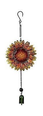 Sunset Vista Designs Metal and Glass Sunflower Bouncy Hangin
