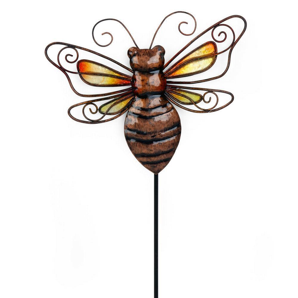 metal bee garden stake or wall decor