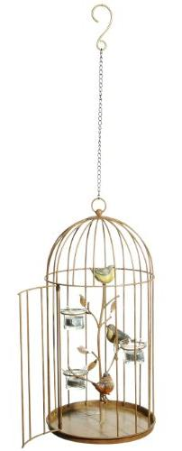 Grasslands Road Metal Birdcage Tealight Holder, 18-Inch