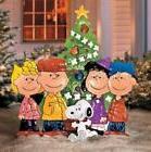 Outdoor Metal Christmas PEANUTS CHARLIE BROWN & FRIENDS Yard