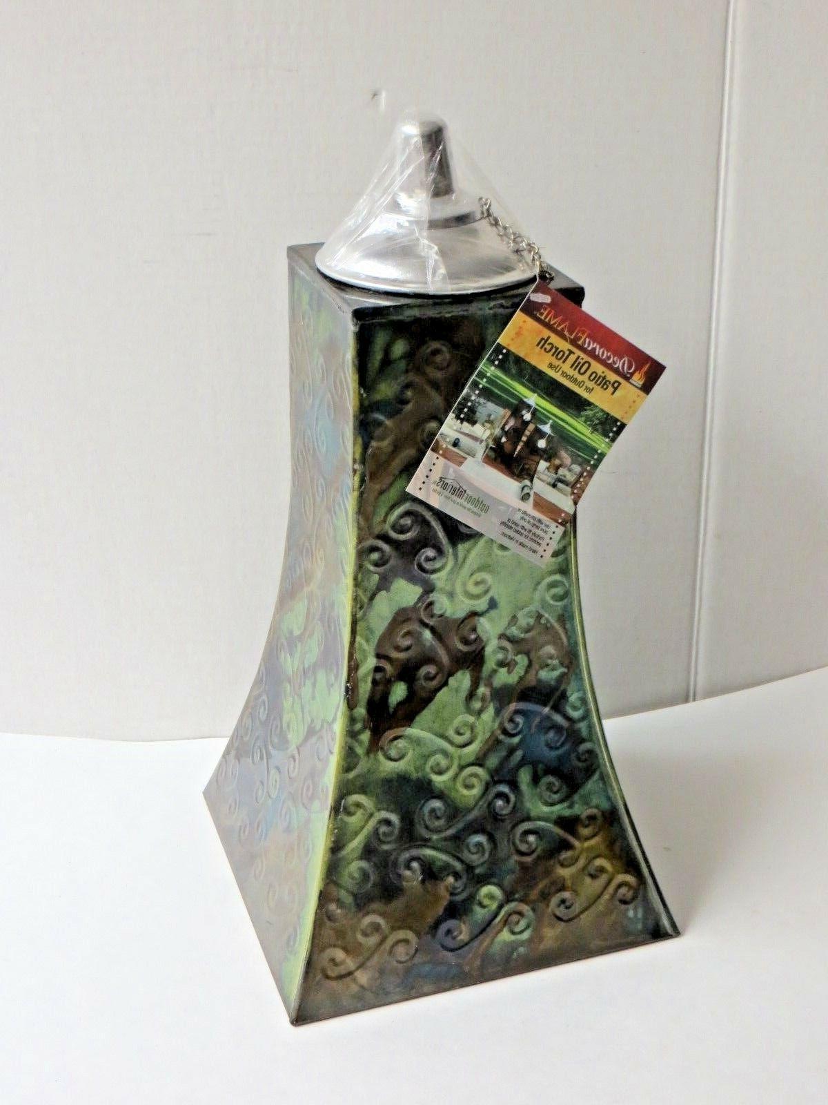 15 Decora Flame Metal Patio Table Lamp