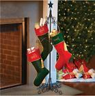 Metal Scrolled Christmas Stocking Holder Freestanding Stand
