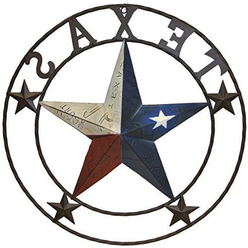 metal texas license plate circle