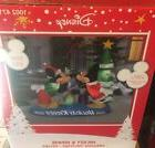 Disney Mickey & Minnie Holiday Kisses Tree Gemmy Airblown In