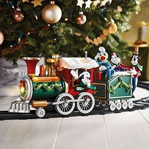 mickey mouse holiday train set
