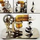 Mini Hot Air Stirling Engine Motor Model Educational Toy Kit