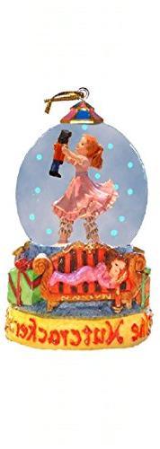 Mini Snow Globe Clara Ballerina with Nutcracker