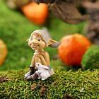 Miniature Dollhouse FAIRY GARDEN ~ Garden Pixie With Bunny ~