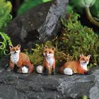 Miniature Dollhouse FAIRY GARDEN /Mini Foxes Set of Three