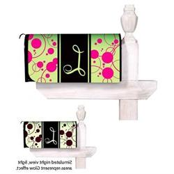 Monogram Peppy Pink Glow in the Dark Magnetic Mailbox Cover