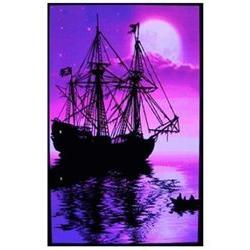 moonlit pirate ghost ship blacklight