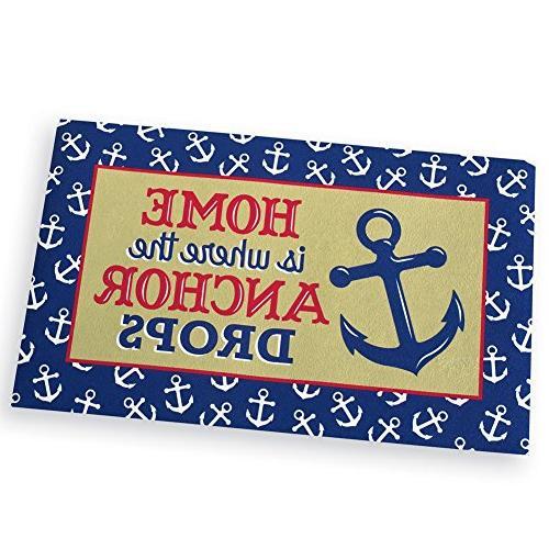 nautical ocean anchor drops skid