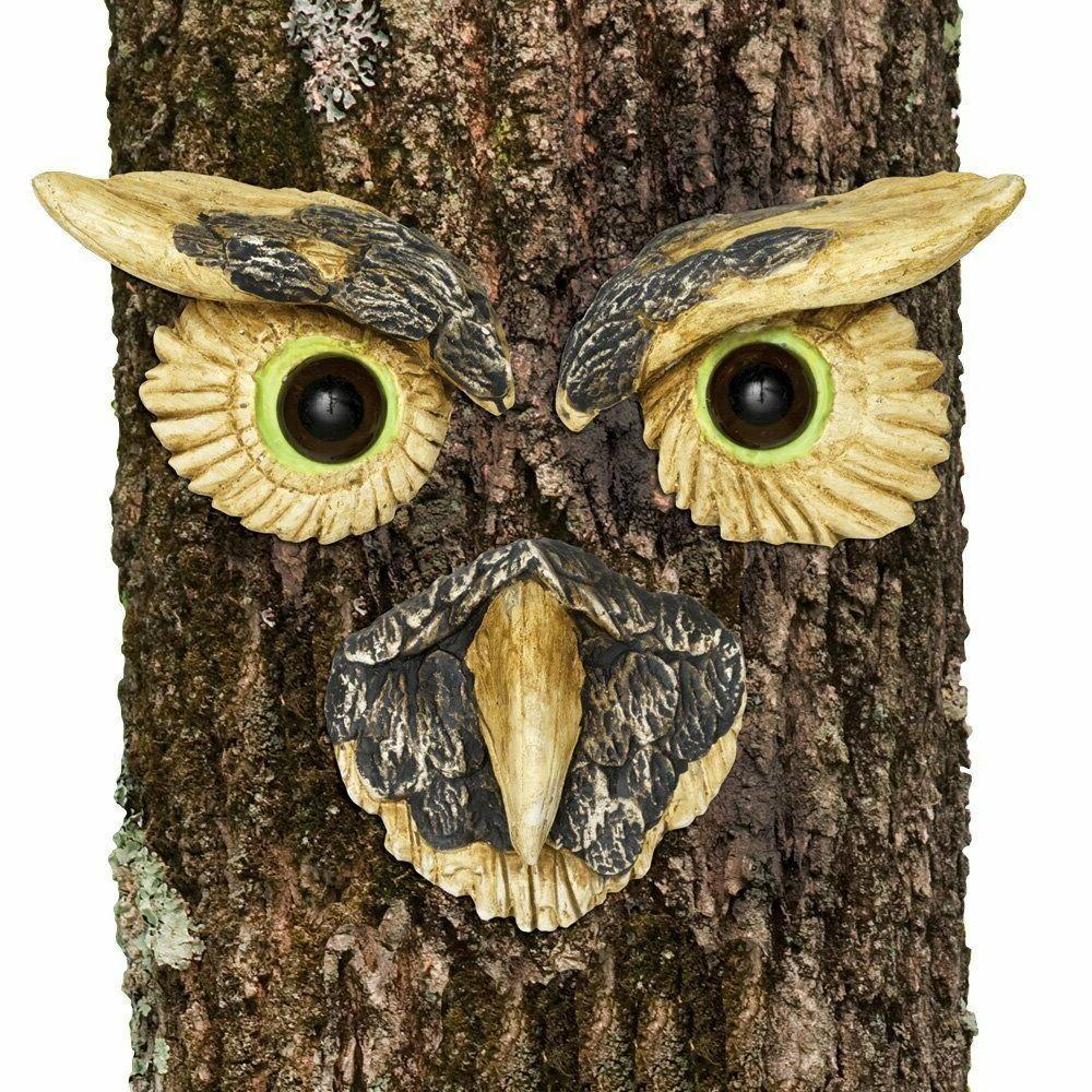 New Owl Face Hugger decoration Peeker Yard Face Decor