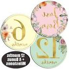 Newborn Baby Girl Gold Floral Monthly Stickers - Great Showe
