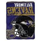 New NFL Baltimore Ravens Soft Micro Rasche Large Throw Blank