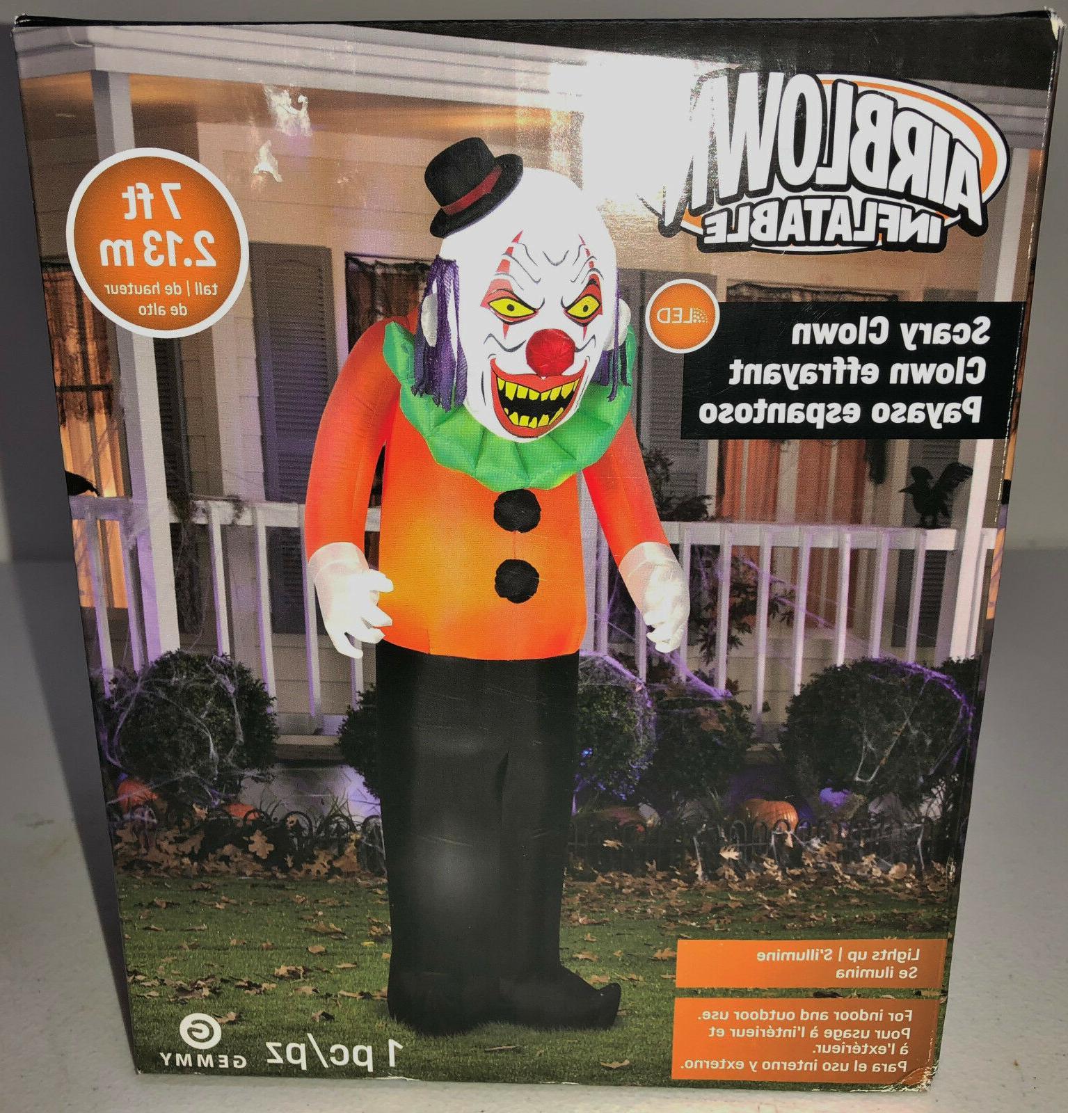 NIB Gemmy 7' Clown Party Yard Decor