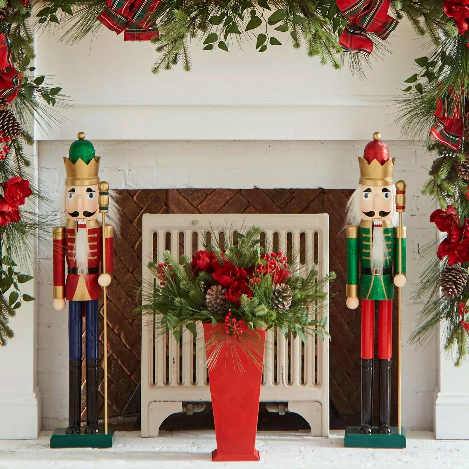 Nutcracker Christmas Toy Soldier 36 Inches Set of 2 Yard Pat