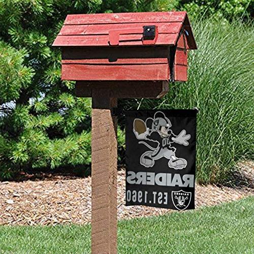 Dalean Raiders Garden Flags, Mildew Best Yard and Home Outdoor Decor - 12x18