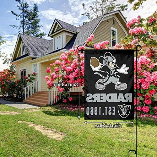 Dalean Oakland Garden Flags, Weather Mildew Flags, Best Party Home Outdoor 12x18 inches