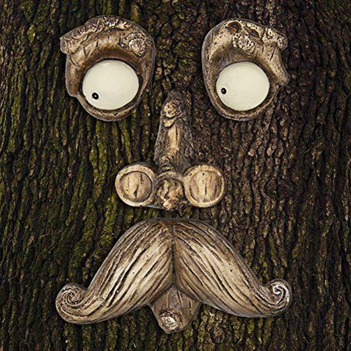 old man tree hugger yard art decorations