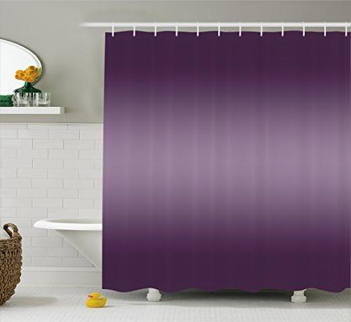 ombre shower curtain modern room