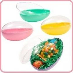 "ONE 6"" Plastic Panoramic Sugar Easter Egg Mold, Assorted Col"