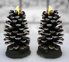 OpenBox Pine Cone LED Candles - Set of 2 Actual Pinecones LE