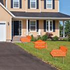 Orange Grad Party Yard Signs-2 Grad Arrows & 1 Welcome /Than