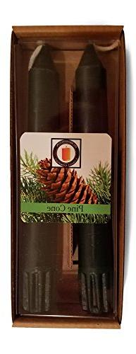 """Hubbardston Candle Company 100% Pure Beeswax 6"""" Pine Cone Sc"""