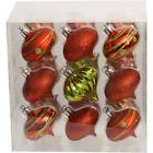 Holiday Time Ornaments Traditional 60mm Shatterproof,Set of