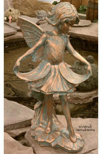 Outdoor Garden Fairy Girl Statue Bronze Resin Sculpture Yard